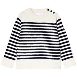Burberry White Dennis Quilted Sweater
