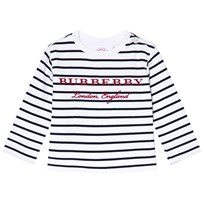 Burberry Navy and White Mini Peggy Stripe Tee Navy/White