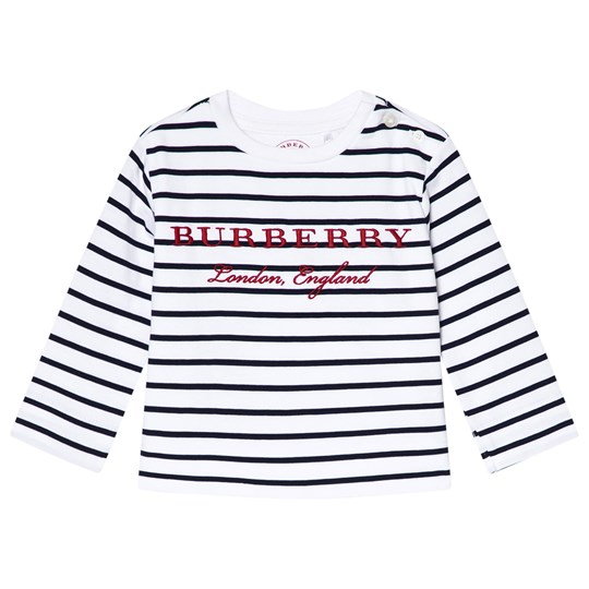 Burberry Mini Peggy Stripe T-shirt Marinblå och Vit Navy/White