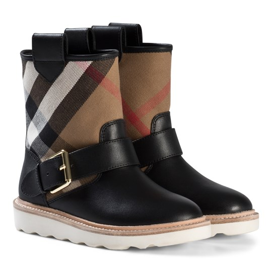 Burberry Black Newberry Check Weatherboots CLASSIC CHECK