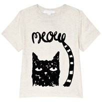 Burberry White Meow Cat Print Tee NATURAL MELANGE