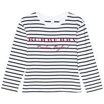 Burberry Navy and White Stripe Peggy Tee Navy/White
