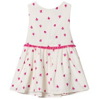 Tom Joule White Fun Strawberry Printed Double Layer Dress CREAM STRAWBERRY SPOT