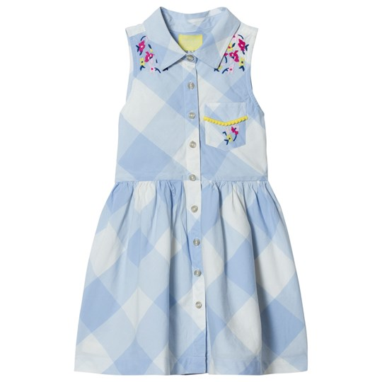 Tom Joule Gabrielle Woven Shirt Dress Blue and White Skyblue Gingham