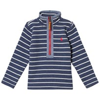 Tom Joule Washed Navy Stripe 1/2 Zip Sweatshirt Navy stripe