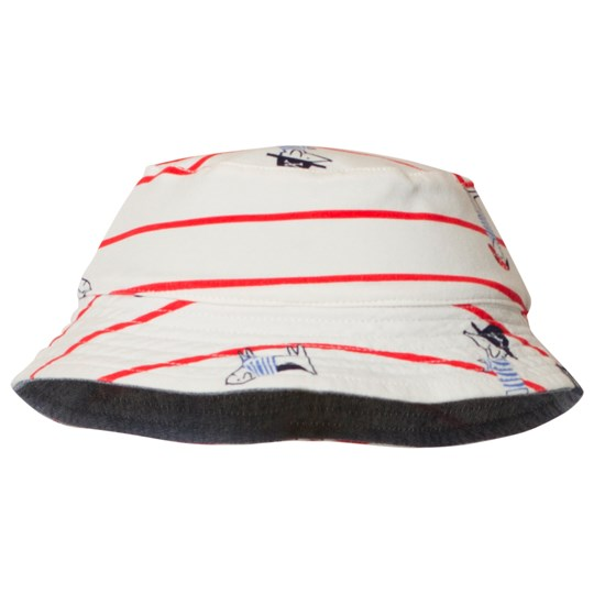 Tom Joule Brit Reversible Sun Hat White and Blue SEA DOG STRIPE