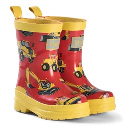 Hatley Red Diggers Print Wellies