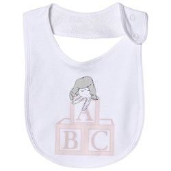 Livly Pink Bunny Placement Bib