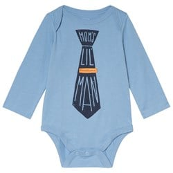 GAP Family Graphic Long Sleeve Baby Body Blue