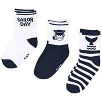 Mayoral 3 Pack of Blue Sailor Socks 74