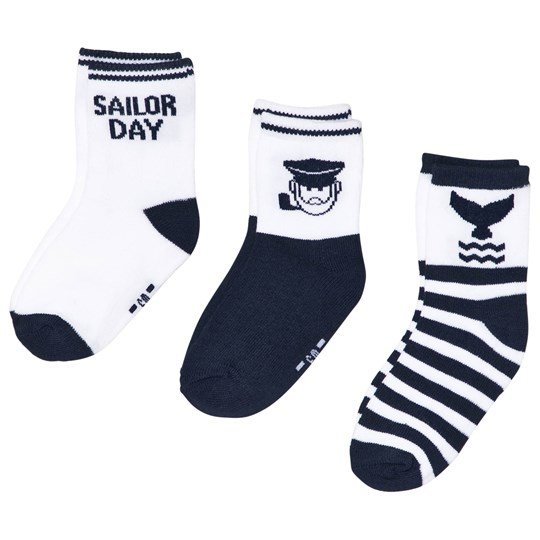 Mayoral 3-Pack Sailor Strumpor Blå 74