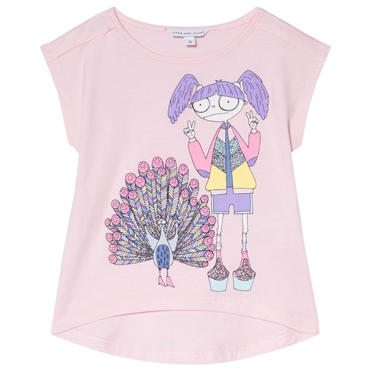 Little Marc Jacobs Miss Marc and Peacock Tee Pink 458