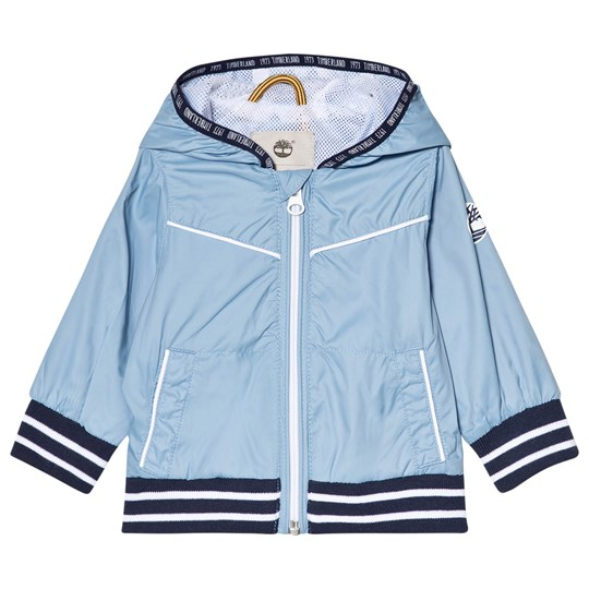 Timberland Pale Blue Water Repellent Hooded Windbreaker 927