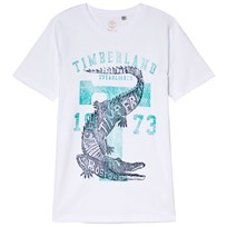 Timberland White Crocodile Branded Tee 10B