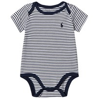 Ralph Lauren Striped Jersey Baby Body Summer Navy and White 001
