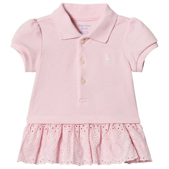 Polo With Dress Detail Ralph Lauren Pique Eyelet Pink CoexdB