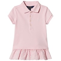 Ralph Lauren Pink Pique Polo with Eyelet Hem 001