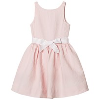 Ralph Lauren Pink Pintuck Dress with Ribbon Tie 002