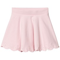 Ralph Lauren Pink Stretch Ponte Skirt with Eyelet Hem 001