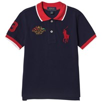 Ralph Lauren Featherweight Cotton Mesh Polo Newport Navy 005