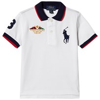 Ralph Lauren White Big Pony and Crest Pique Polo 001