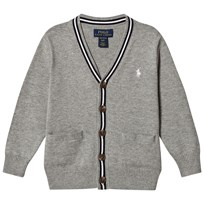 Ralph Lauren Grey Cotton Cardigan with a Small Pony 002
