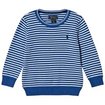 Ralph Lauren Blue Stripe Crew Neck Jumper 002