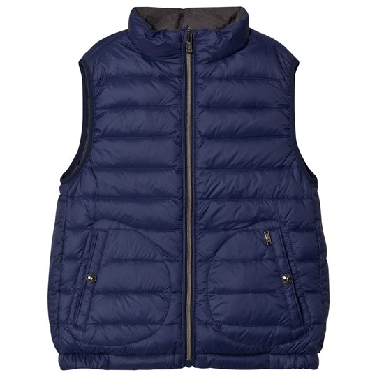 Ralph Lauren Navy and Grey Reversible Vest 001