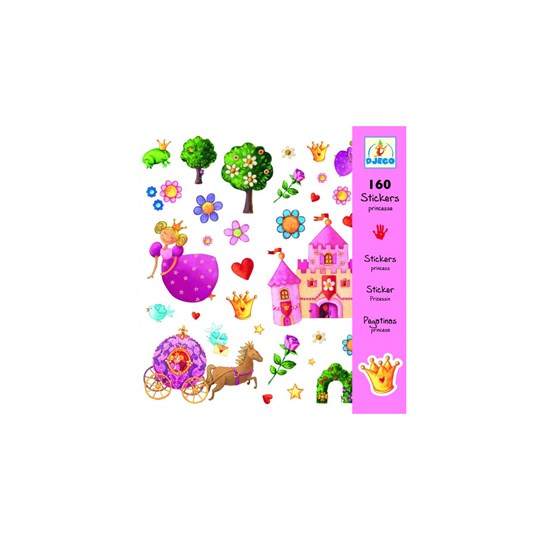 Djeco 160 pcs Princess Marguerite Stickers Multi