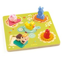 Djeco Duck & Friends Puzzle Multi