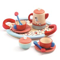 Djeco Tea Time Set Punainen
