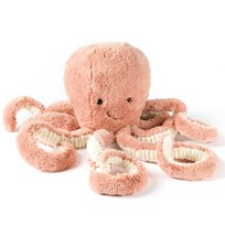 Jellycat Odell Octopus Medium розовый