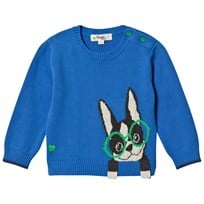 The Bonnie Mob Surf Dog Intarsia Sweater Blue Blue