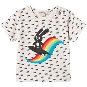 Image of The Bonnie Mob Applique Short Sleeve T-Shirt Rainbow Surf Bunny 18-24 mdr (2959874279)