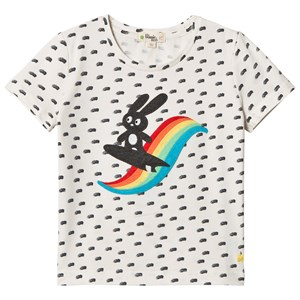 Image of The Bonnie Mob Applique Short Sleeve T-Shirt Rainbow Surf Bunny 2-3 år (2959874281)