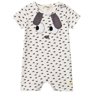 Image of The Bonnie Mob Applique Short Sleeve Romper with Rabbit Ears 12-18 mdr (2959874255)
