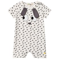 The Bonnie Mob Applique Short Sleeve Romper with Rabbit Ears RABBIT EARS