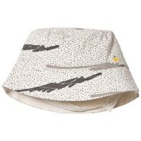 The Bonnie Mob Printed Reversible Sunhat Grey Scribble Waves Print GREY SCRIBBLE WAVES PRINT