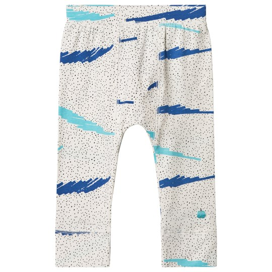 The Bonnie Mob Strumpbyxor Blå med Scribble Waves Tryck BLUE SCRIBBLE WAVES PRINT