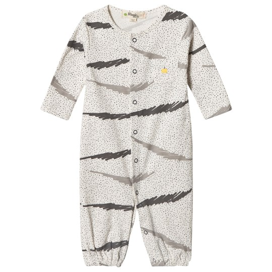 The Bonnie Mob PRINTED CONVERTIBLE PLAYSUIT /GOWN GREY SCRIBBLE WAVES PRINT GREY SCRIBBLE WAVES PRINT