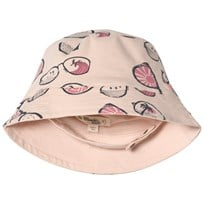 The Bonnie Mob Sunhat Pink Sunnies in Pink Scribble Waves Print PINK SUNNIES