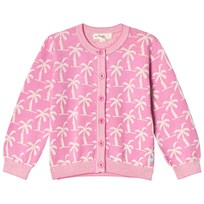 The Bonnie Mob Knitted Palm Tree Jacquard Cardigan Pink Pinks