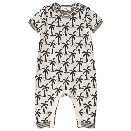 The Bonnie Mob Knit Palm Tree Jacquard Onesie Monochrome MONOCROME