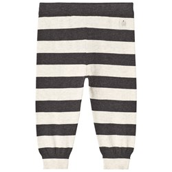 The Bonnie Mob Lightweight Knitted Trousers Monochrome Stripe