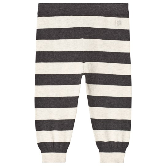 The Bonnie Mob Lätta Stickade Byxor Monochrome Stripe Monochrome Stripe