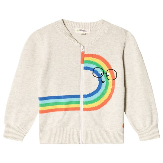 The Bonnie Mob Rainbow Dude Intarsia Cardigan Rainbow