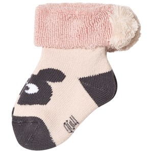 Image of The Bonnie Mob Bunny Head Baby Socks Powder Pink 0-6 mdr (3065509863)