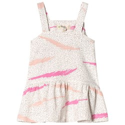 The Bonnie Mob Sun Dress Pink Scribble Waves Print