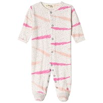 The Bonnie Mob Footed Baby Body Pink Scribble Waves Print PINK SCRIBBLE WAVES PRINT