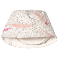 The Bonnie Mob Printed Reversible Sunhat in Pink Scribble Waves Print PINK SCRIBBLE WAVES PRINT
